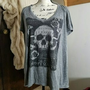 Torrid Skull and Butterfly Tee